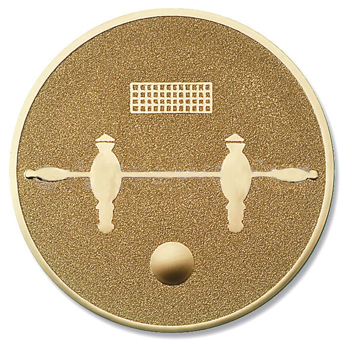 Emblem Tischfussball gold für Medaillen-Träger