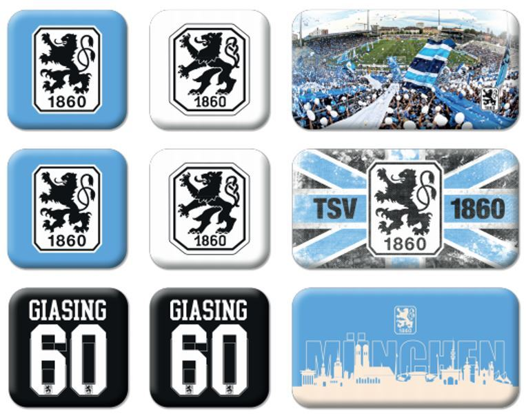 TSV 1860 München Magnet 9er Set