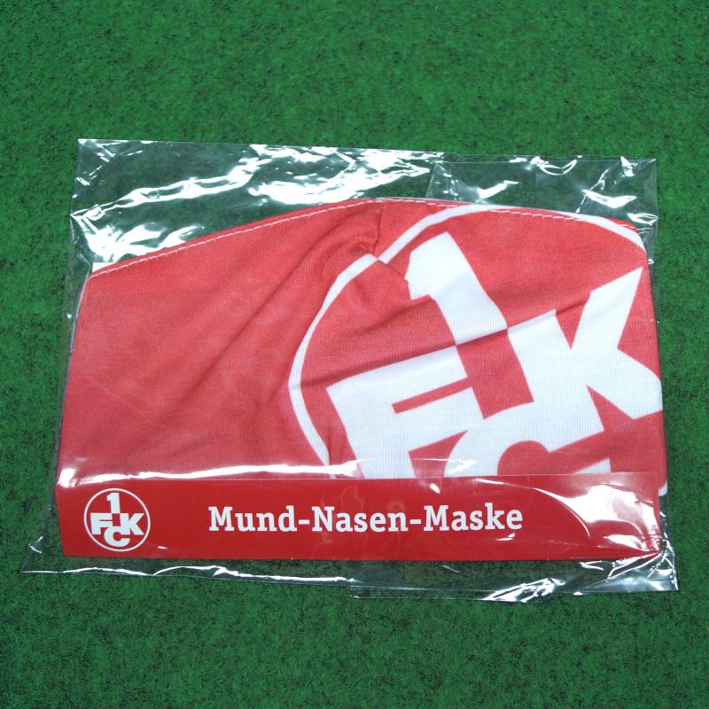 1. FC Kaiserslautern Mundschutz Logo rot