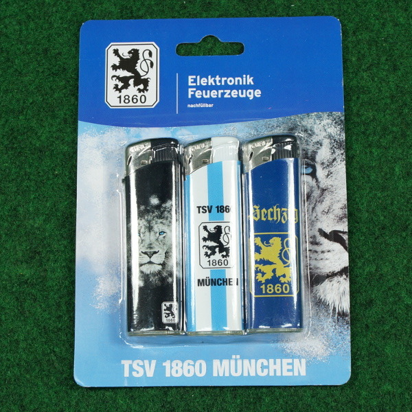 TSV 1860 München Feuerzeuge 3er Set