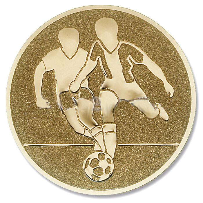 Emblem Fussball gold für Medaillen-Träger