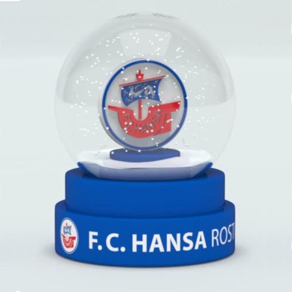 Hansa Rostock Schneekugel Logo