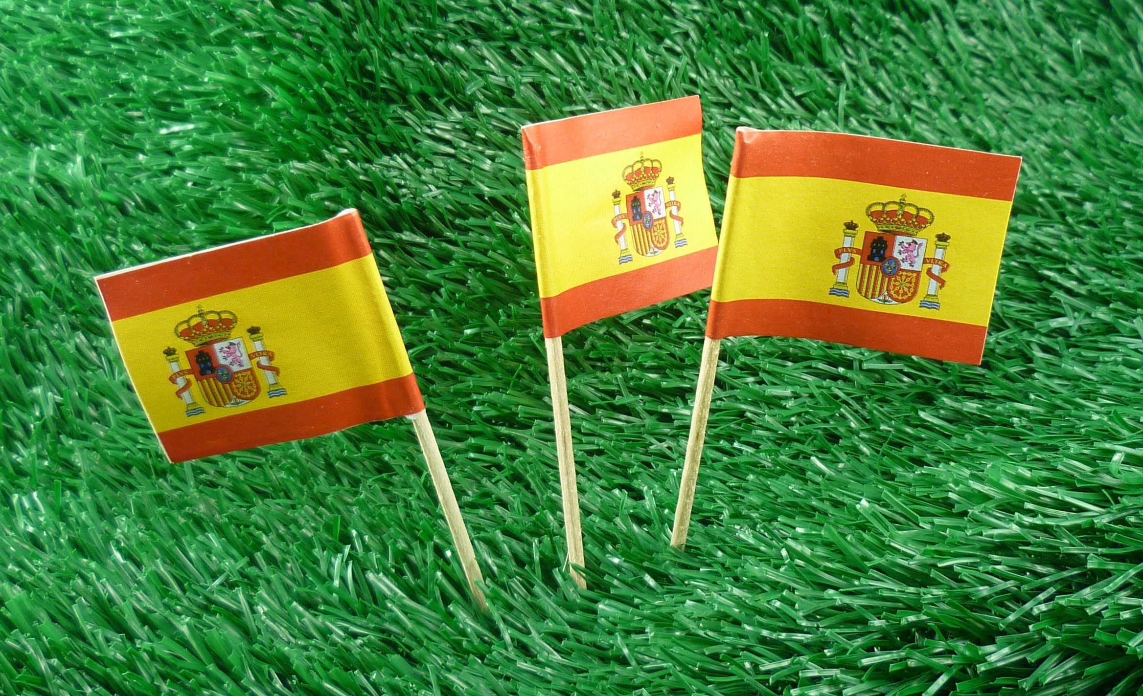 Spanien Minifahnen 50er Pack