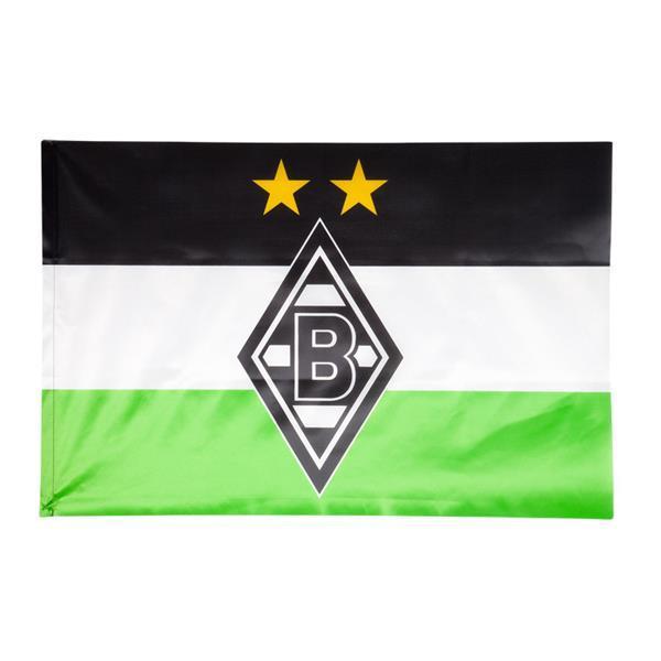Borussia Mönchengladbach Fahne Borussia mit Sterne 60 x 90 cm