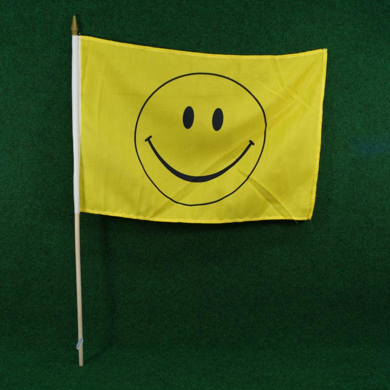 Stockfahne Motiv Smiley