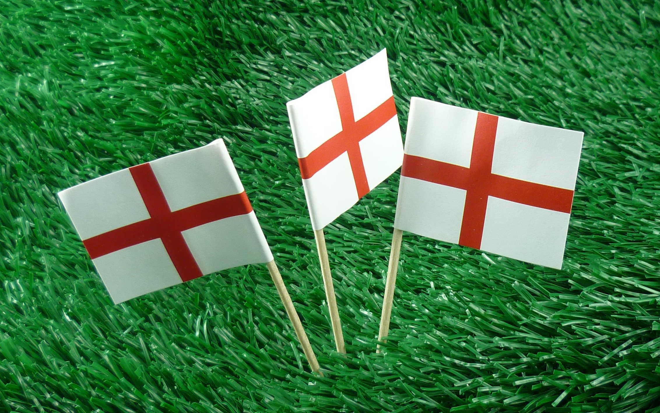 England Minifahnen 50er Pack