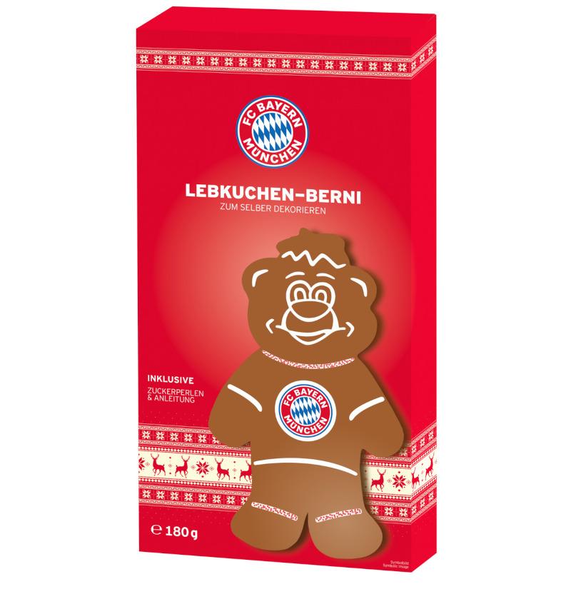FC Bayern München Lebkuchenfigur Berni 180g