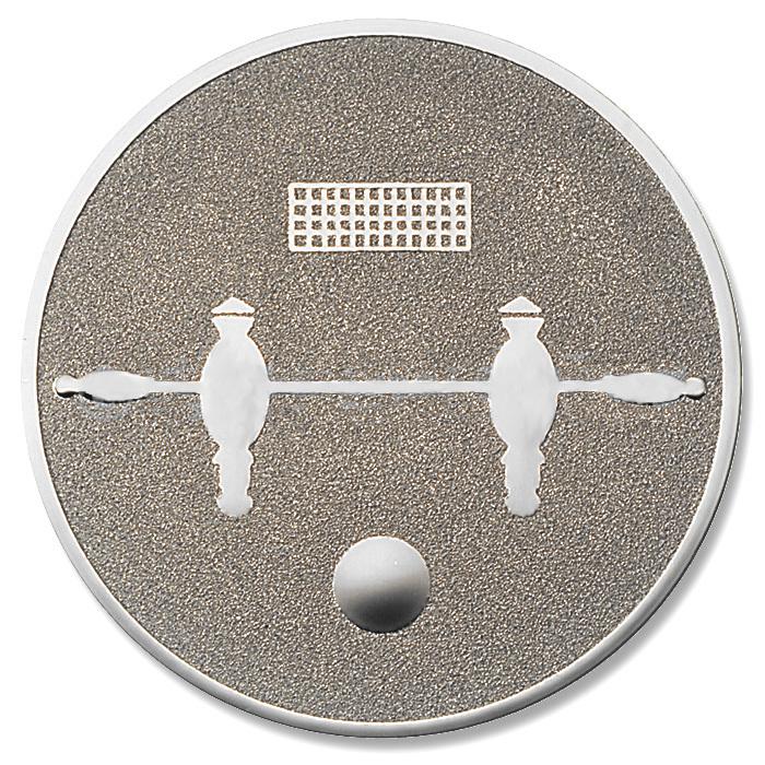 Emblem Tischfussball silber für Medaillen-Träger