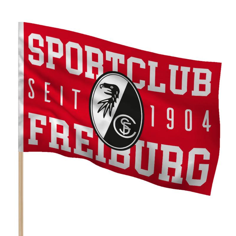 "SC Freiburg Fahne ""1904"" 150 x 100cm"