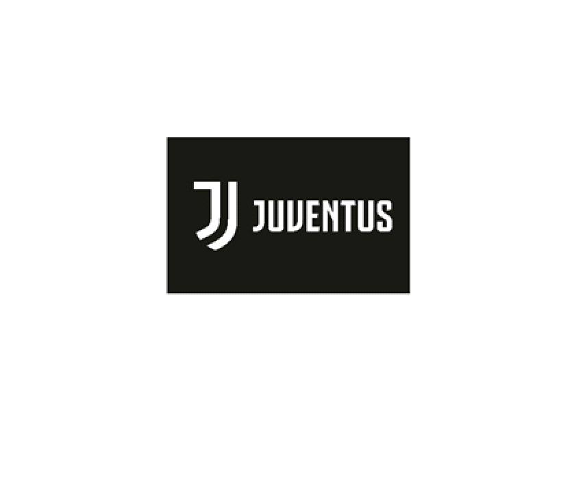 Juventus Turin Fahne schwarz Logo, 140x100cm
