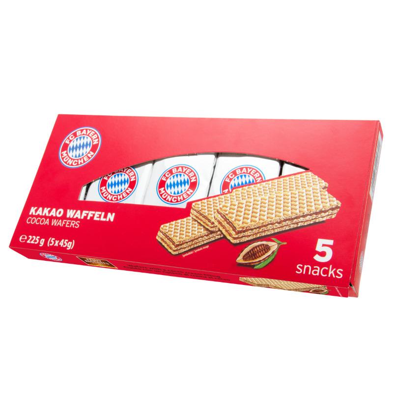 FC Bayern München Waffeln mit Schokoladencreme 225g (5x45g)