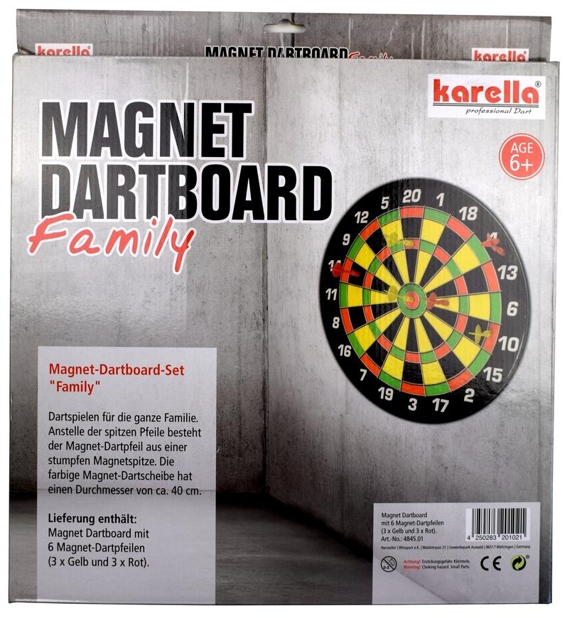 Karella Magnet-Dartboard Family + 6 Magnetpfeile