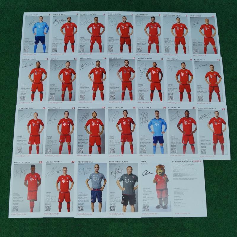 FC Bayern München Autogrammkarten 15/16
