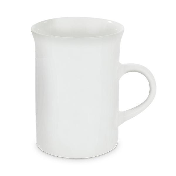 Tasse Windsor weiss, bedruckt