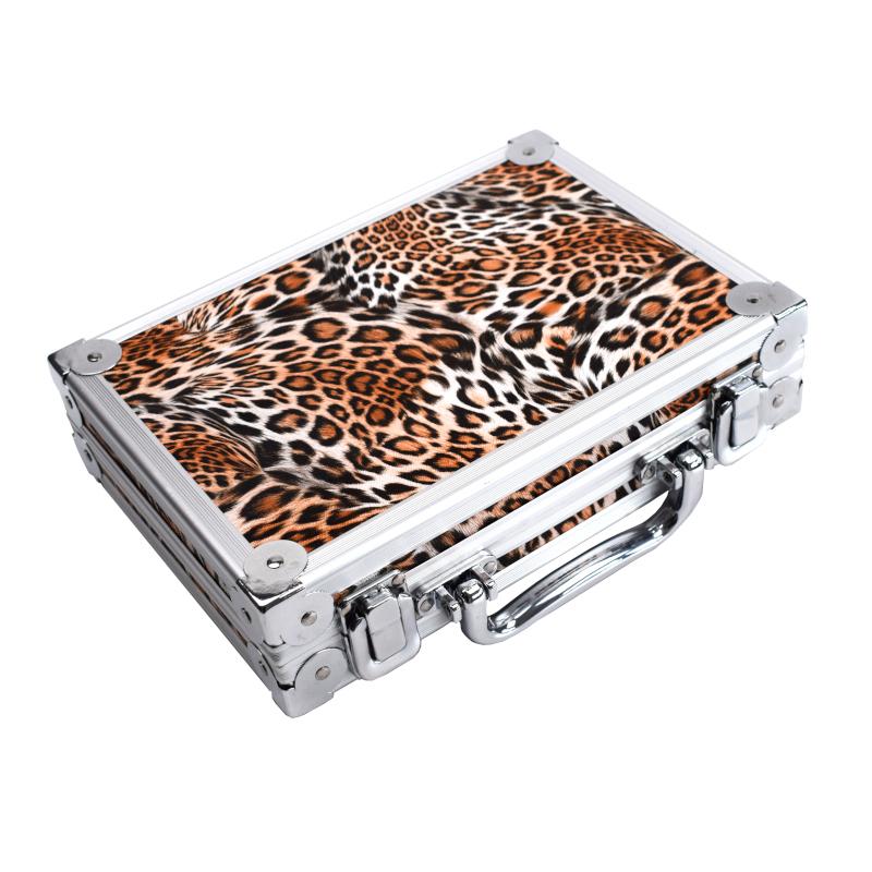 Dartkoffer Alu Luxus Leo-Look