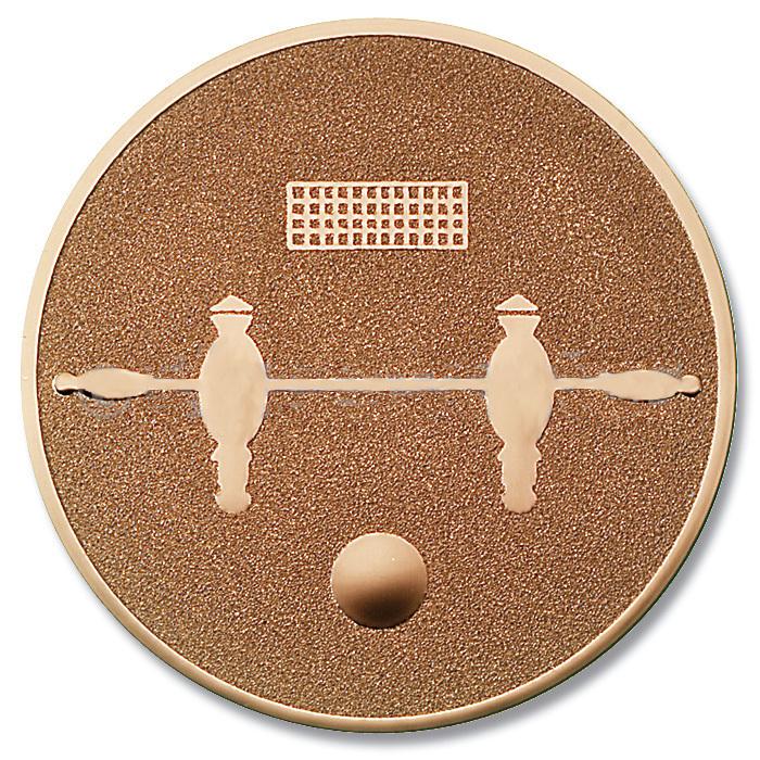 Emblem Tischfussball bronze für Medaillen-Träger