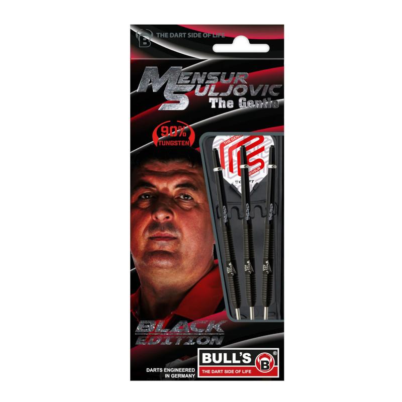 Bull's Mensur Suljovic Black Edition Steeldarts-Set 25g