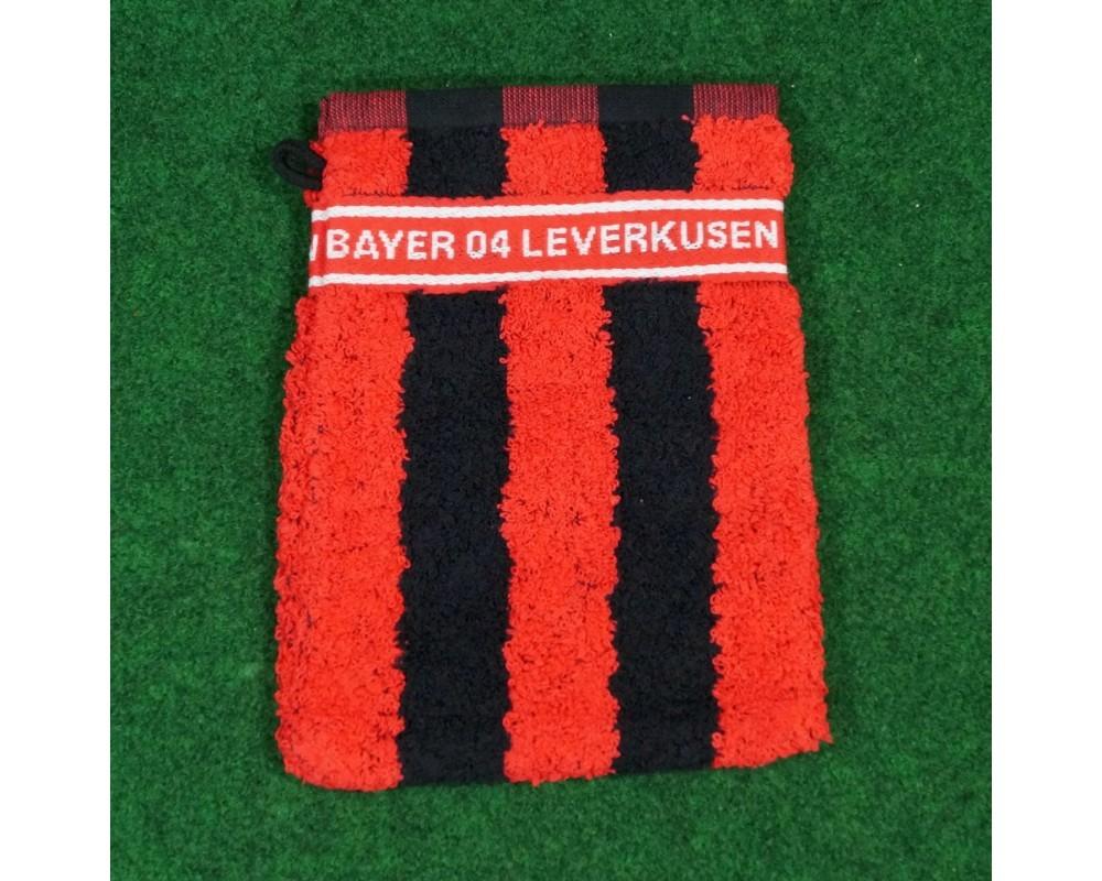 Bayer 04 Leverkusen Waschhandschuh Blockstreifen