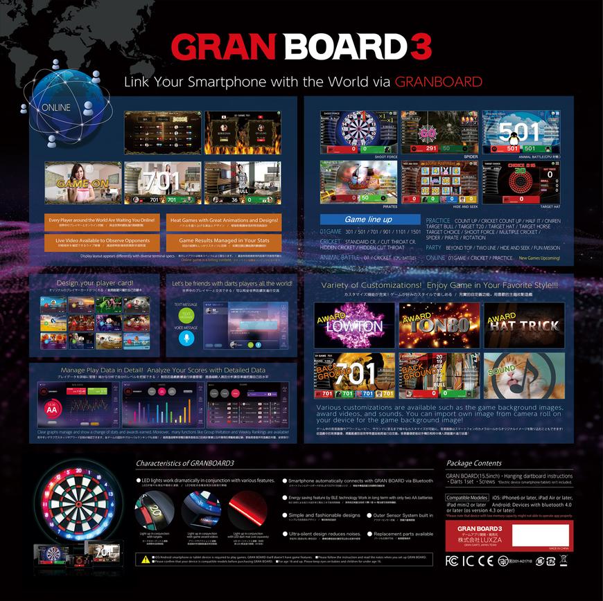 Granboard Dash Electronic Board Smartboard Typ blau