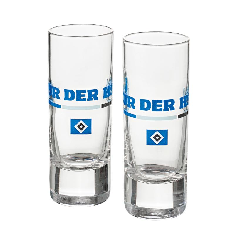 """HSV Schnapsglas 2er Set """"Nur der HSV"""""""