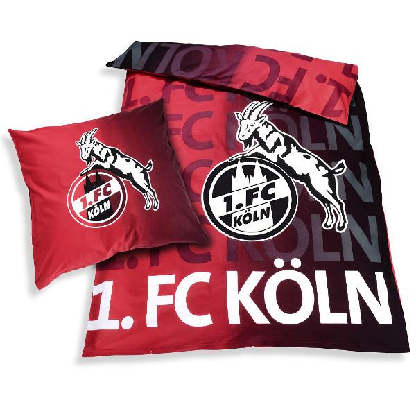 1. FC Köln Bettwäsche leuchtet im Dunkeln
