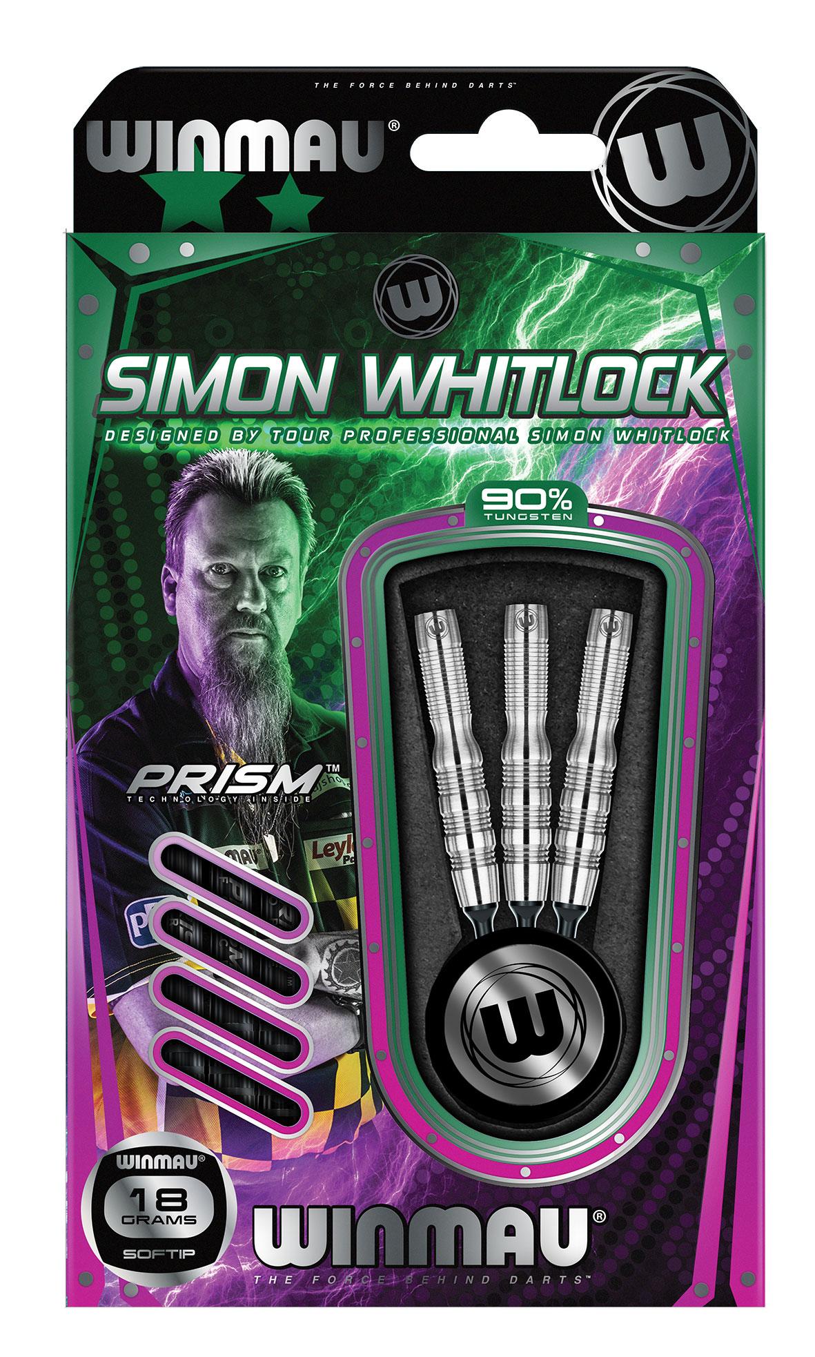 Winmau Simon Whitlock silber Softdarts-Set 18g