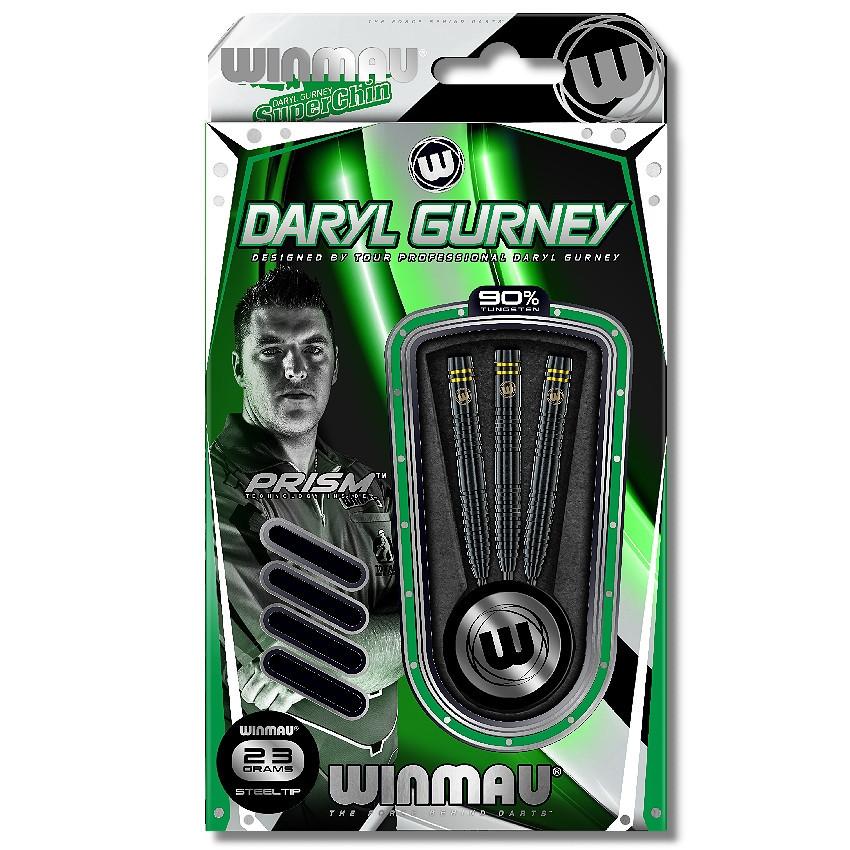 Winmau Daryl Gurney schwarz Spezial Edition Steeldarts-Set 25g