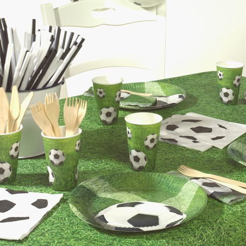Tischdecke aus Papier Fussball Rasen