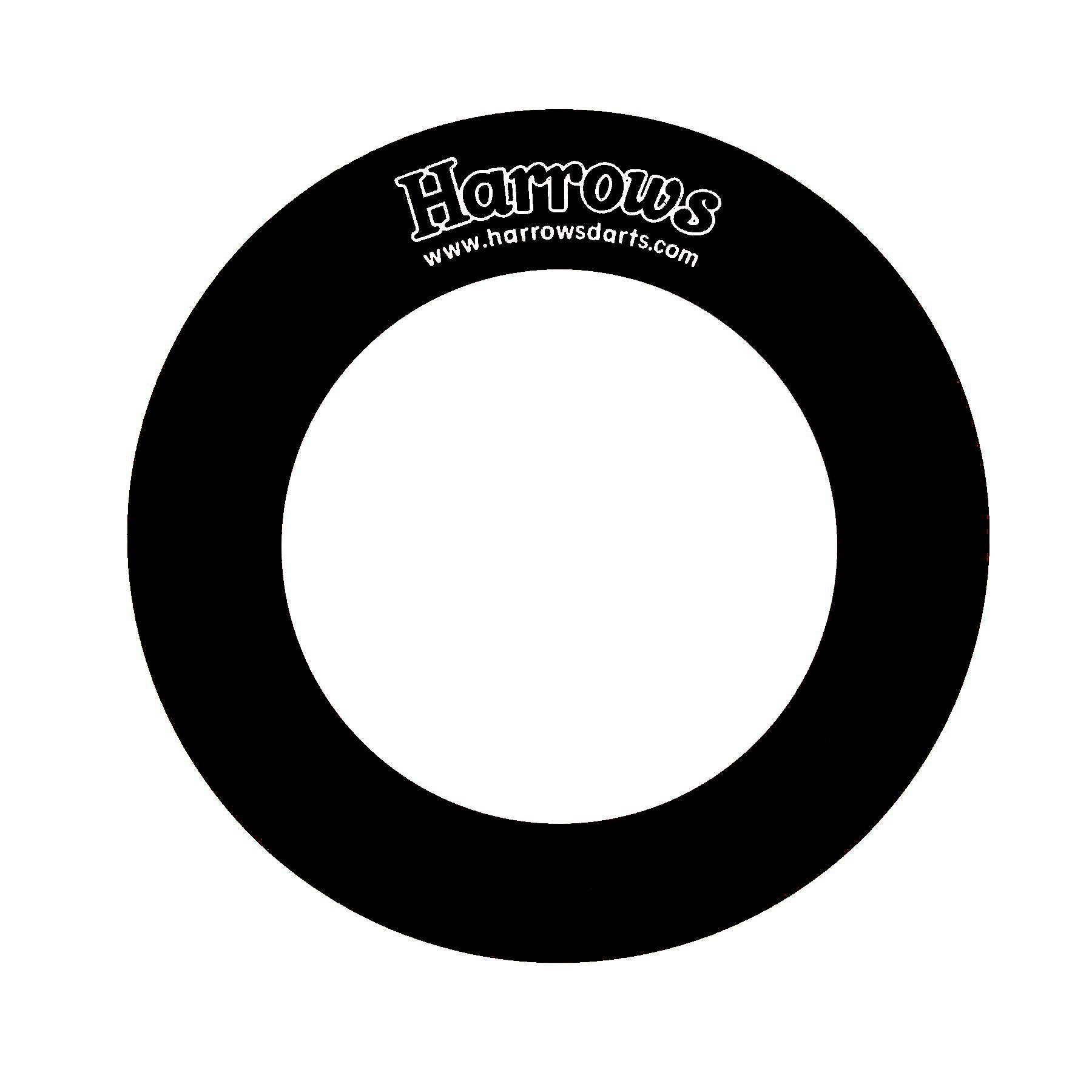 Harrows Dart-Board Wandschutz schwarz