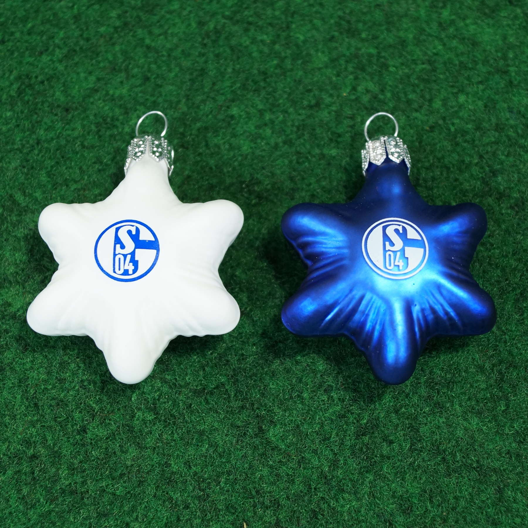 FC Schalke 04 Glassterne 2er-Set, Christbaumschmuck