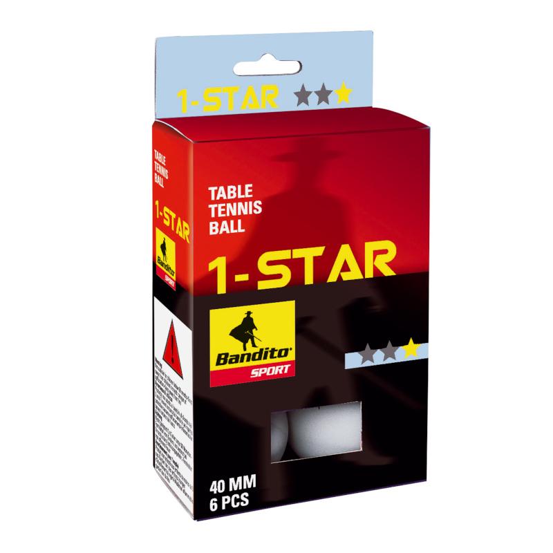 Tischtennisbälle Bandito 1 Stern