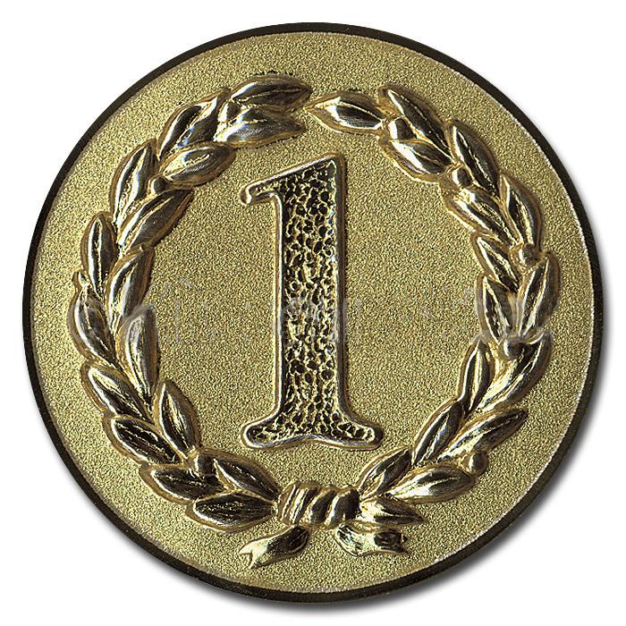 Emblem Platz 1 gold für Medaillen-Träger