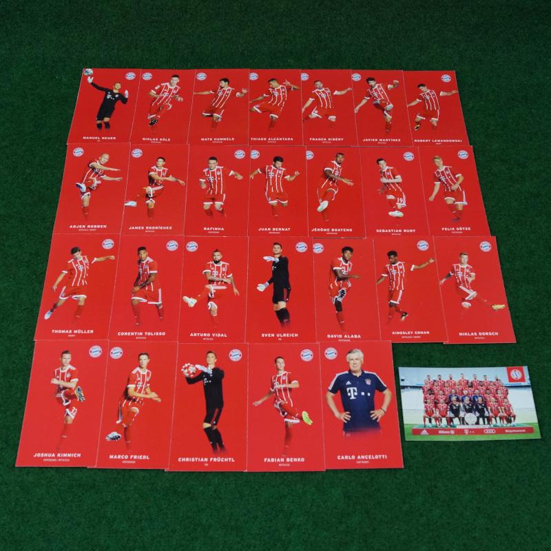 FC Bayern München Autogrammkarten17/18