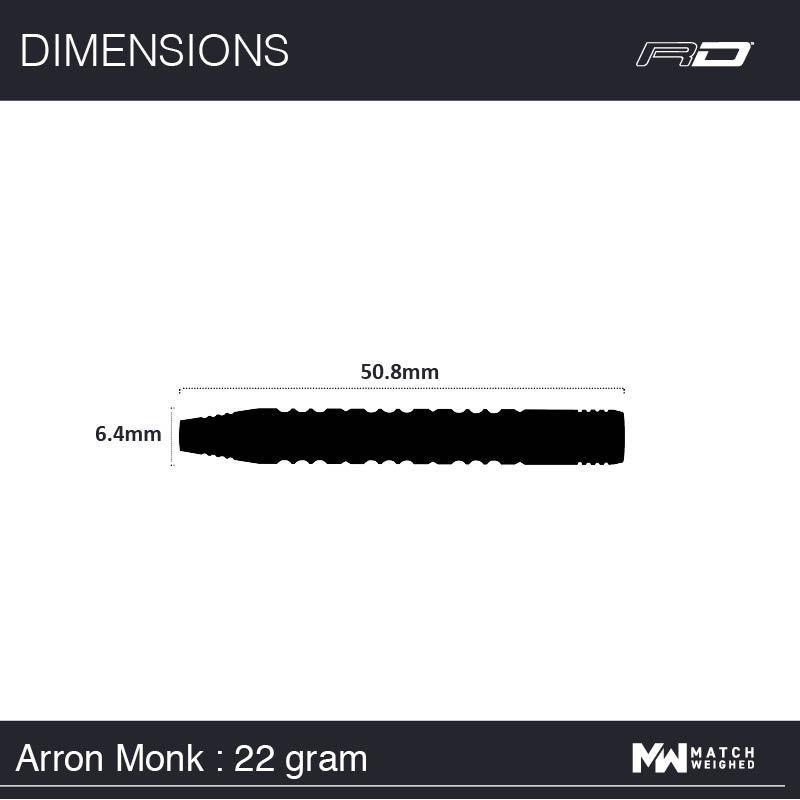 Red Dragon Arron Monk Steeldarts-Set 22g
