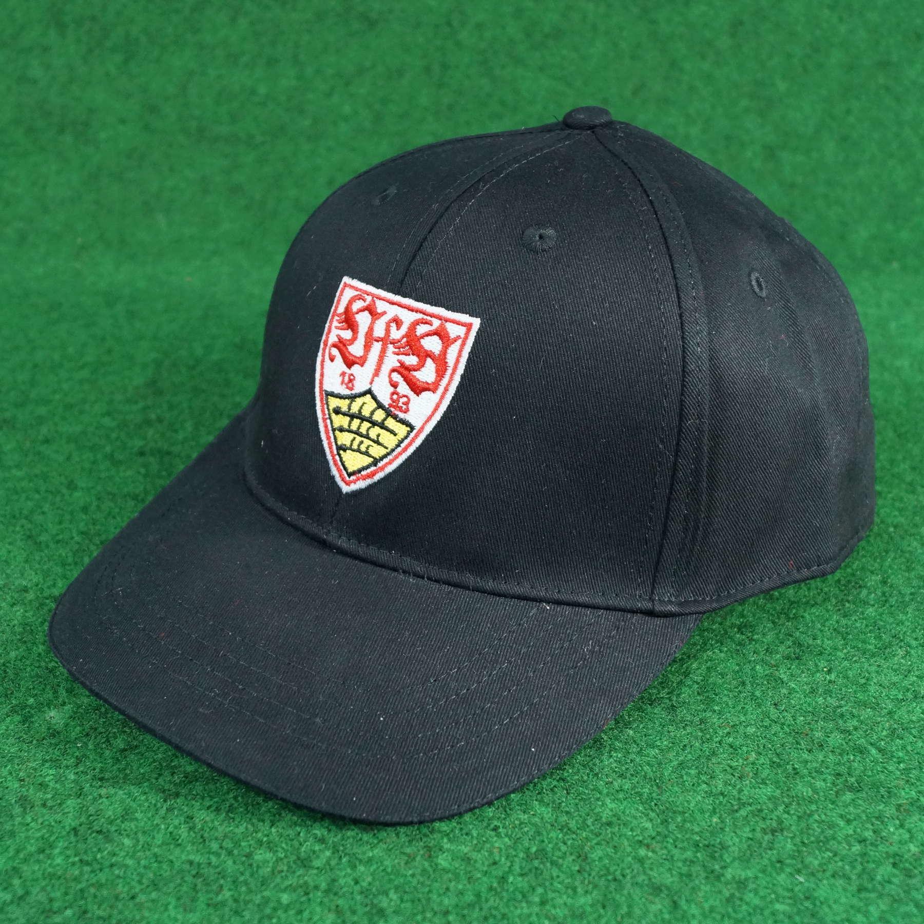 VfB Stuttgart Cap Wappen schwarz