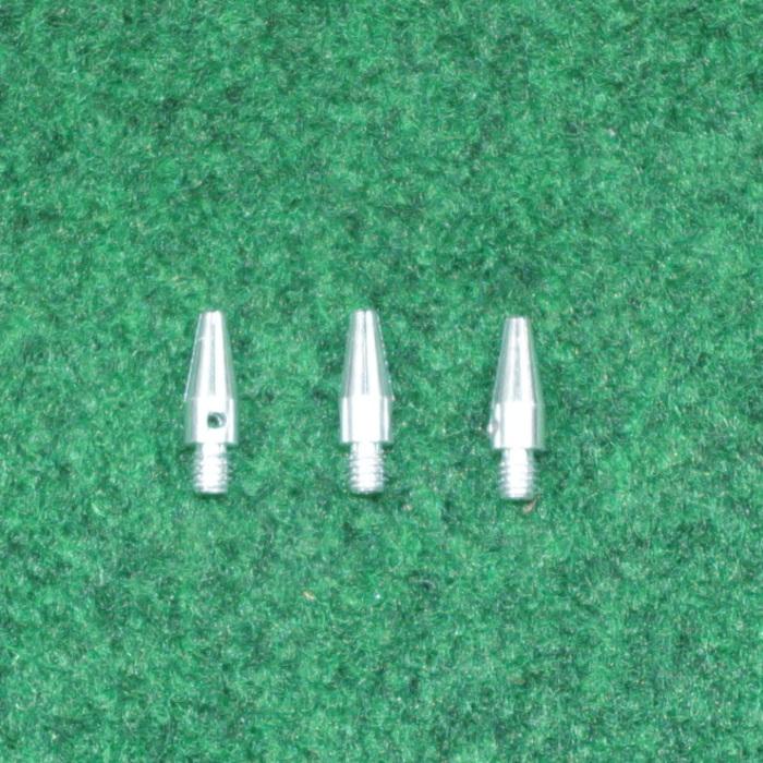 Alu Schäfte silber micro 15mm