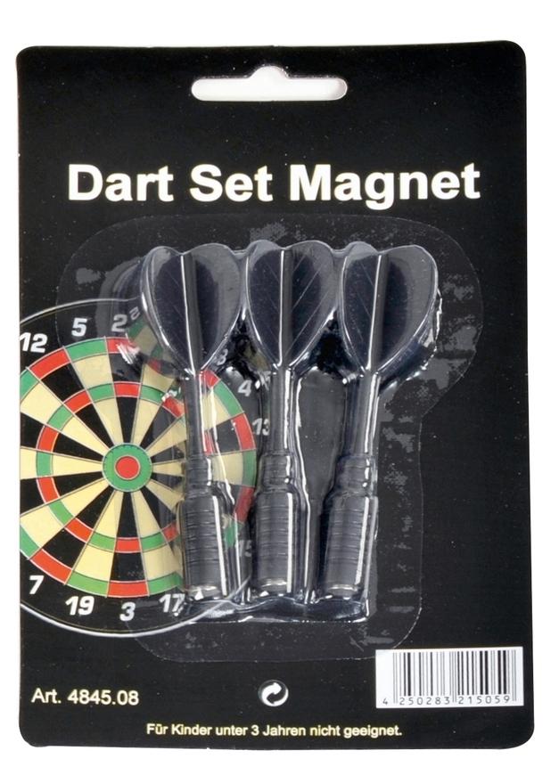 Dart Set Magnet-Pfeile schwarz