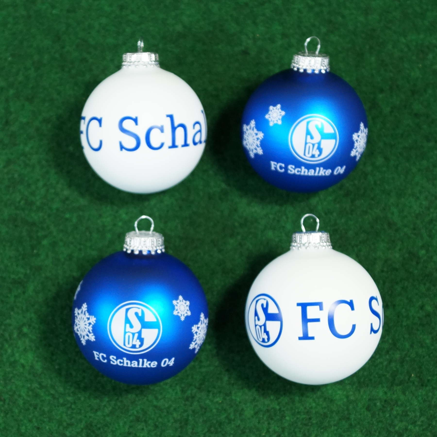 FC Schalke 04 Weihnachtskugeln 4er-Set, Christbaumschmuck