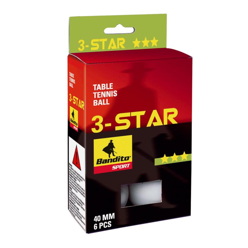 Tischtennisbälle Bandito 3 Stern