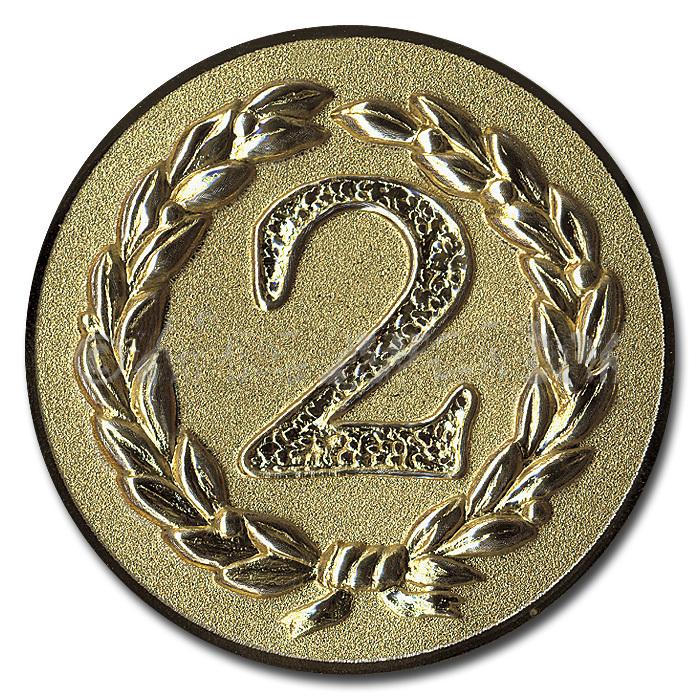 Emblem Platz 2 silber für Medaillen-Träger