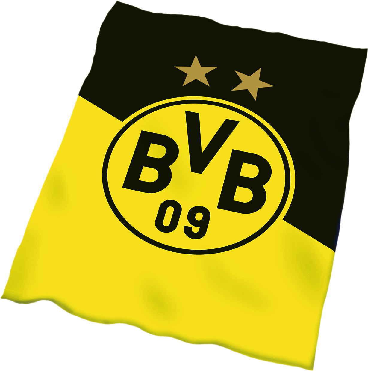 BVB Fleecedecke Schrägstreifen