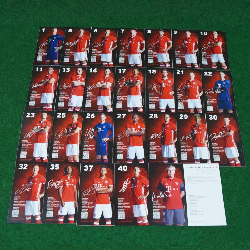 FC Bayern München Autogrammkarten 16/17