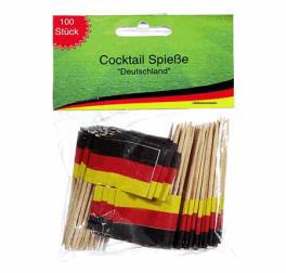 Deutschland Minifähnchen Cocktail-Spieße 100 St.