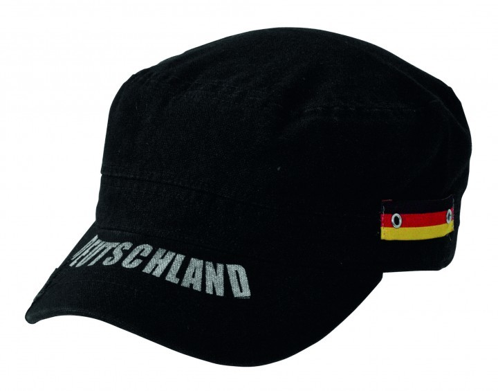 Deutschland Fan Cap schwarz