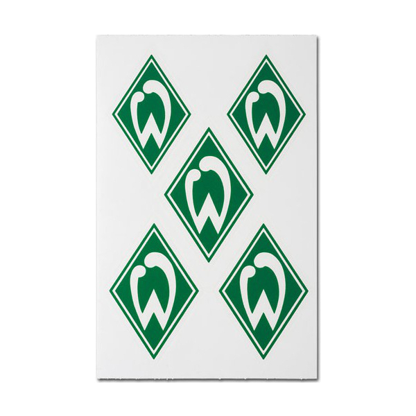 SV Werder Bremen nachleuchtende Aufkleber