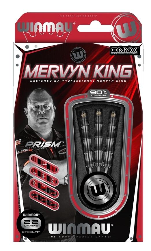 Winmau Mervyn King Silver Colour Steeldarts-Set 1071-22g