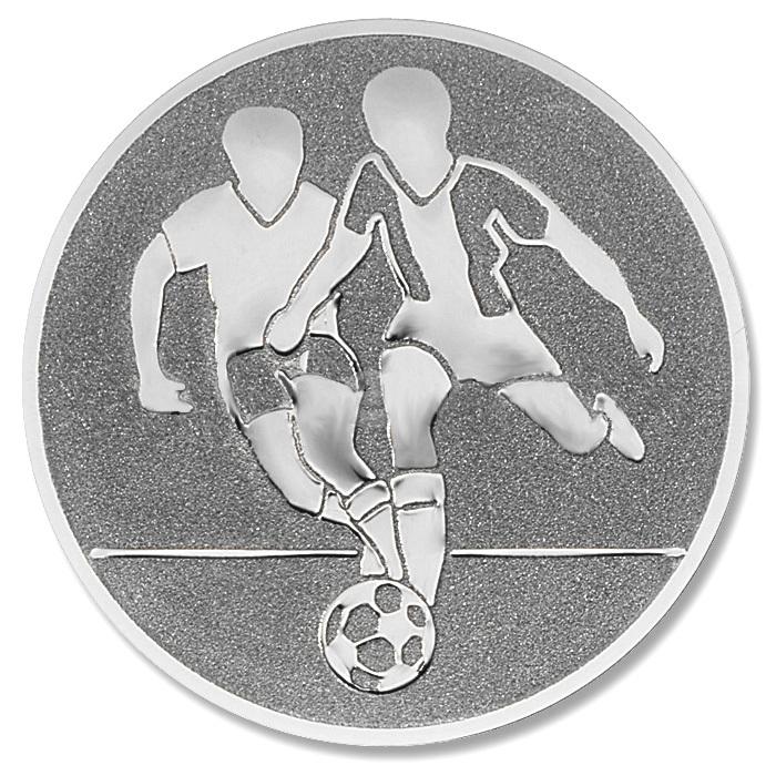 Emblem Fussball silber für Medaillen-Träger
