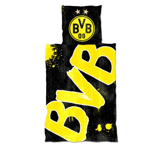 BVB Bettwäsche Glow in the Dark