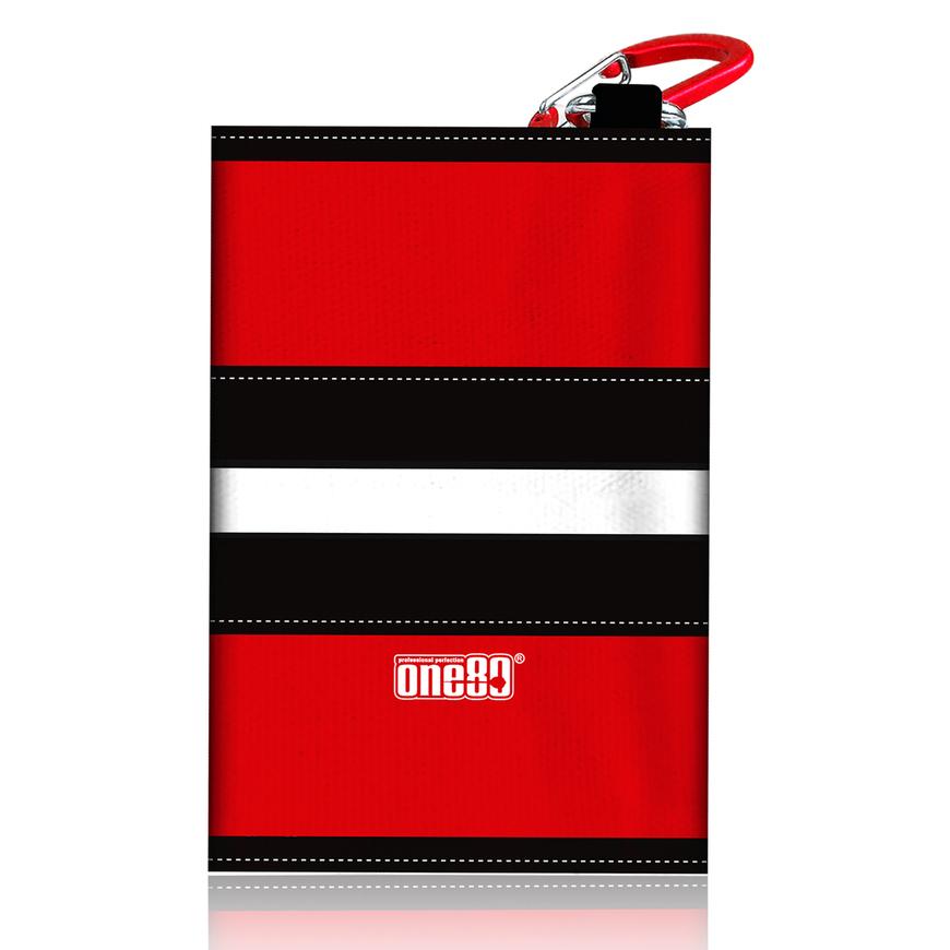 One80 Dart Canvas wallet rot/schwarz/weiß