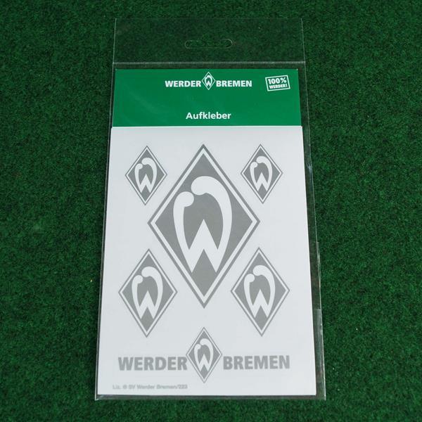 SV Werder Bremen Autoaufkleber-Karte silber